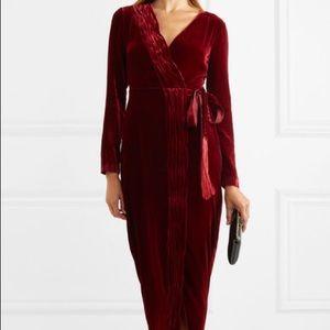 RACHEL ZOE wrap-effect velvet dress - size 4